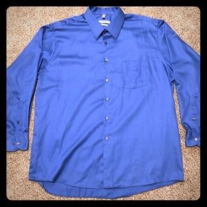 Geoffrey Beene Dress Shirt Size 18 Sleeve 34/35